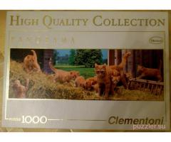 Clementoni. Ginger Cat Family, 1000 деталей