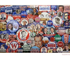 U.S.President / Campaign Buttons and Stamps Extreme Double Puzzle
