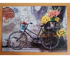 Educa/17988/500 дет Bicycle with flowers